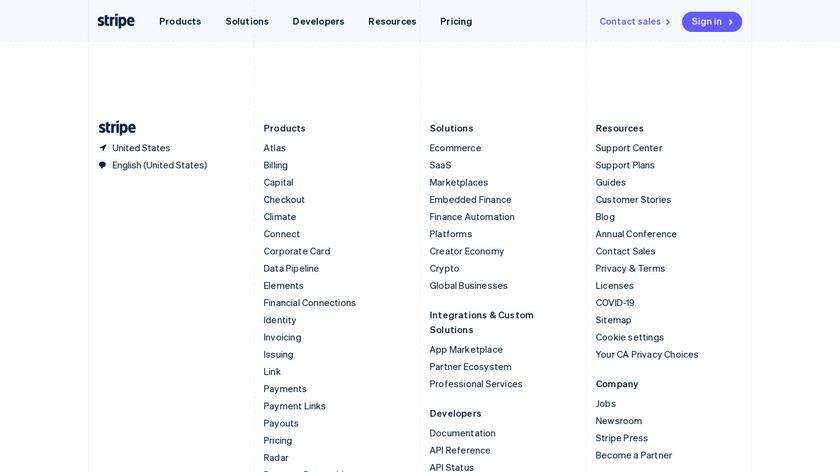 Stripe Atlas Taxes Landing Page
