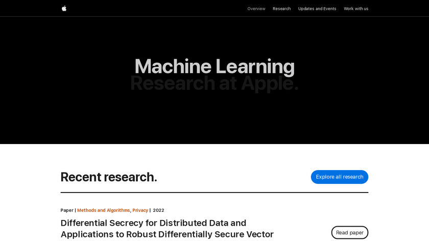 Apple Machine Learning Journal Landing Page
