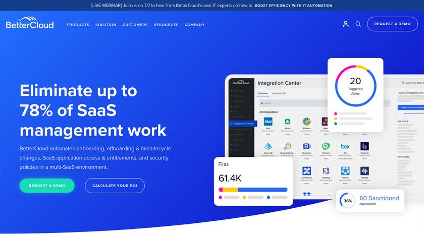 BetterCloud Landing Page
