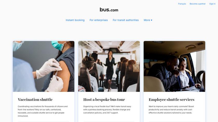 Bus.com Landing Page