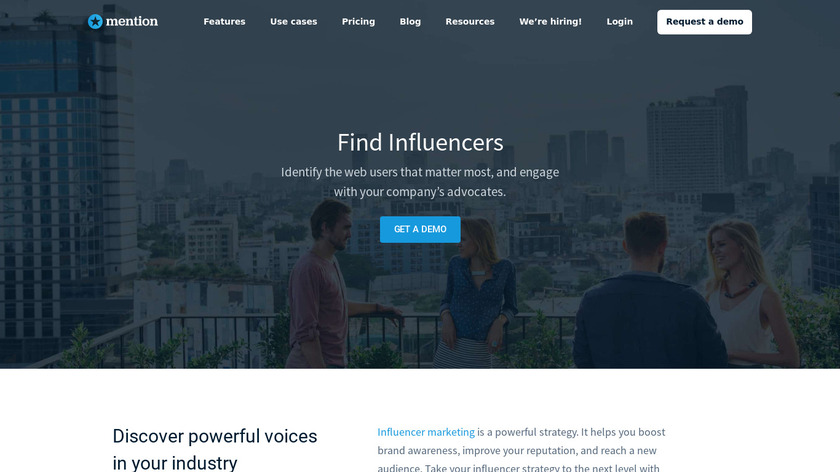 Mention ✪ Influencers Dashboard Landing Page