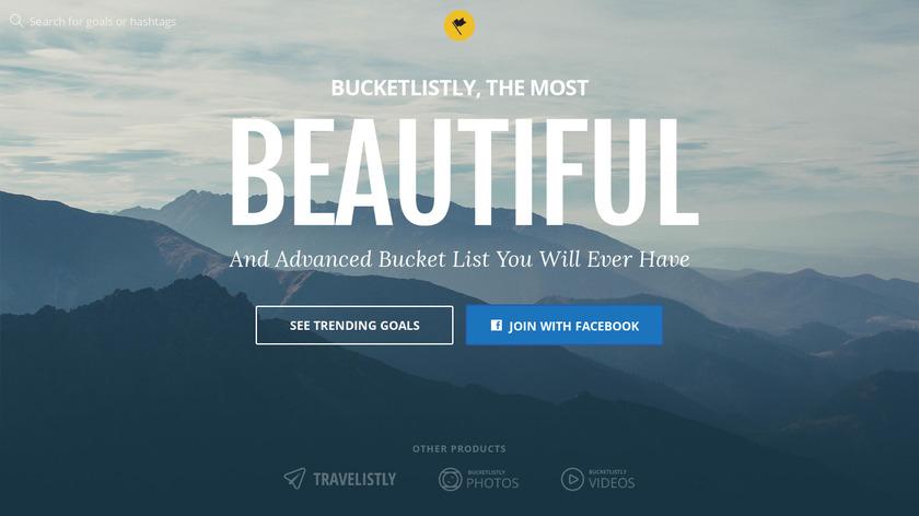 BucketListly Landing Page