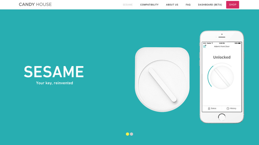 Sesame by CandyHouse.co Landing Page