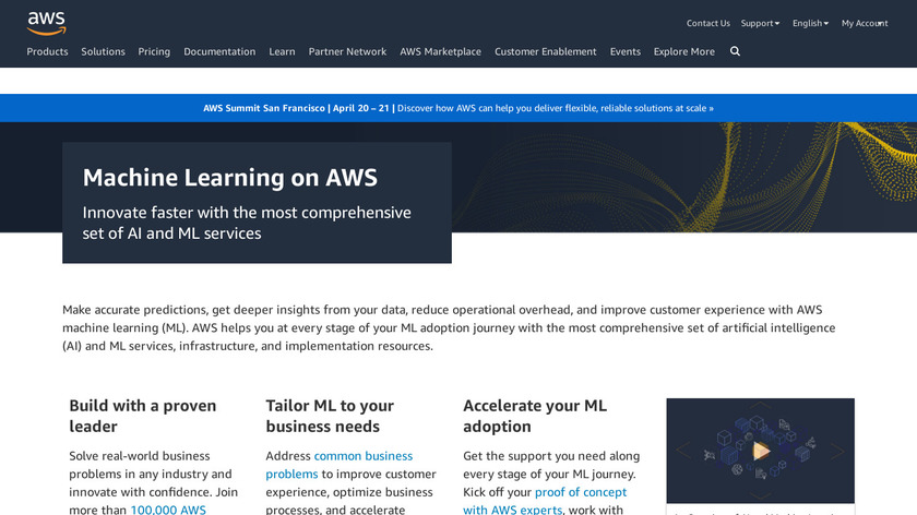 Amazon Machine Learning Landing Page