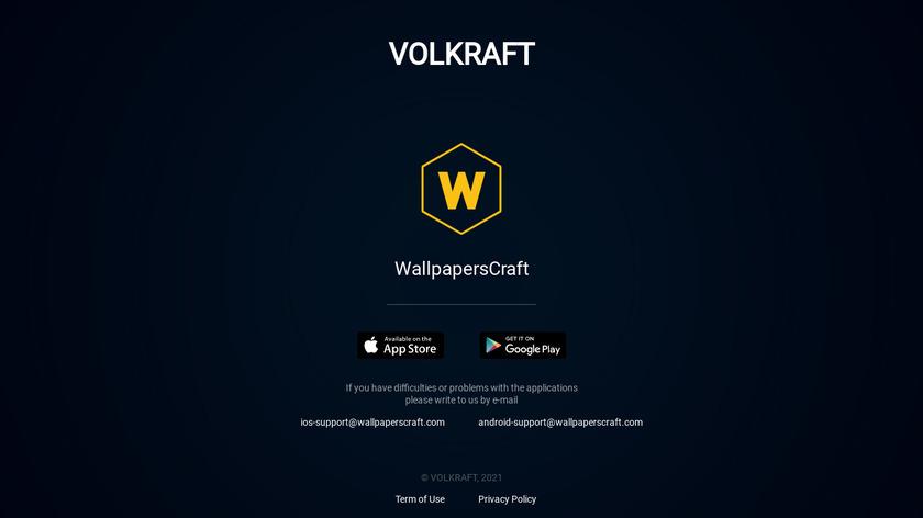WallpapersCraft Landing Page