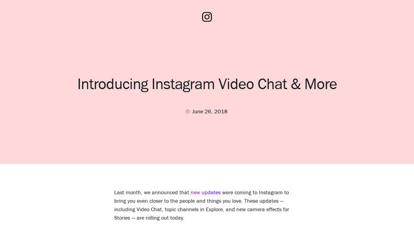 Instagram Direct Video Chat Landing Page