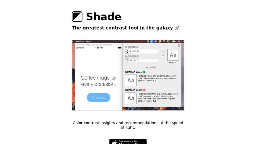 Shade Landing Page