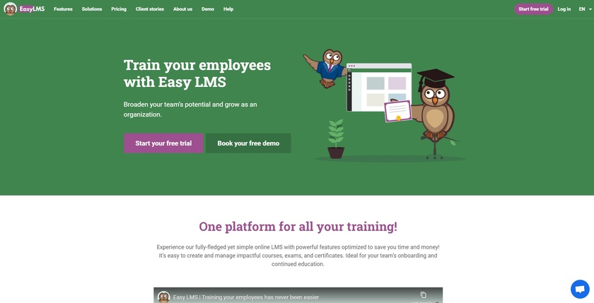 Easy-LMS Landing Page