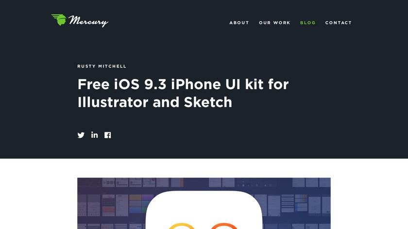 iOS 9.3 UIKit Landing Page