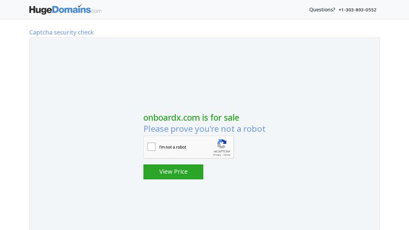 onboardX Landing Page
