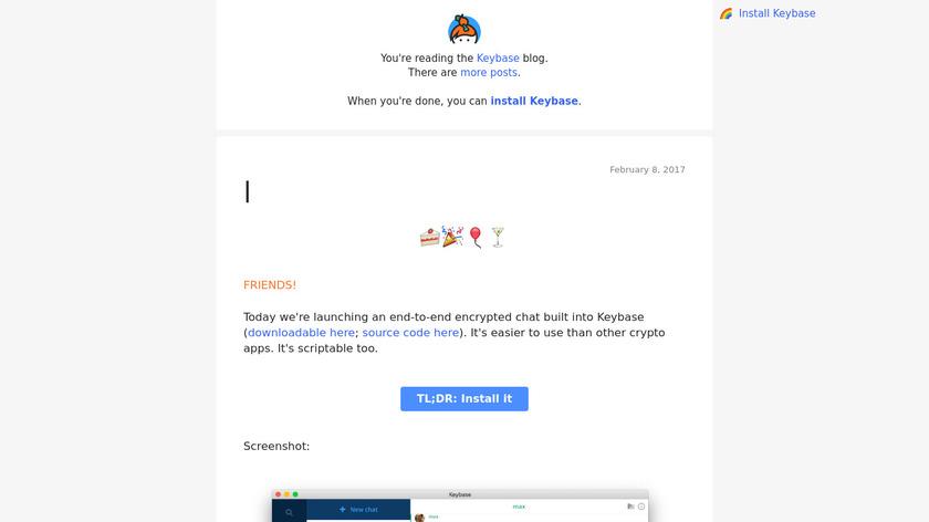 Keybase Chat Landing Page