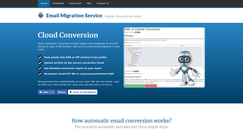 Cloud Email Conversion Landing Page