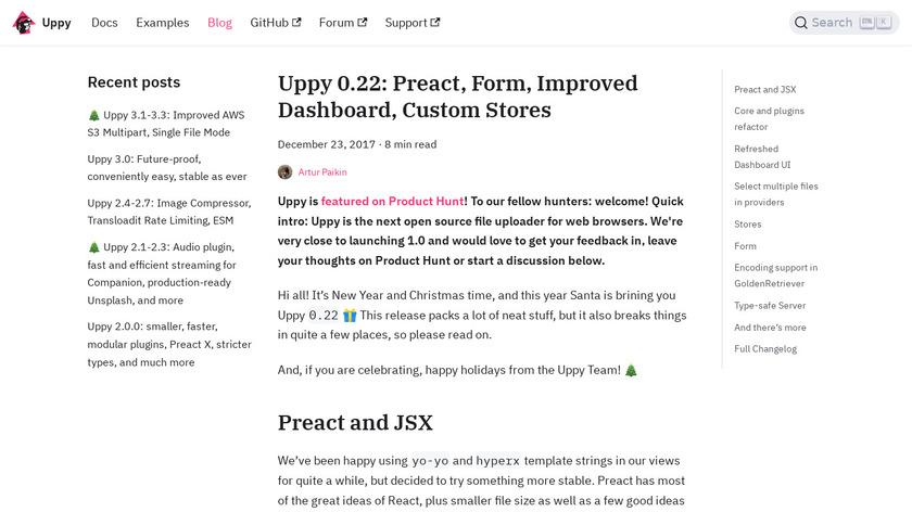 Uppy.io Landing Page