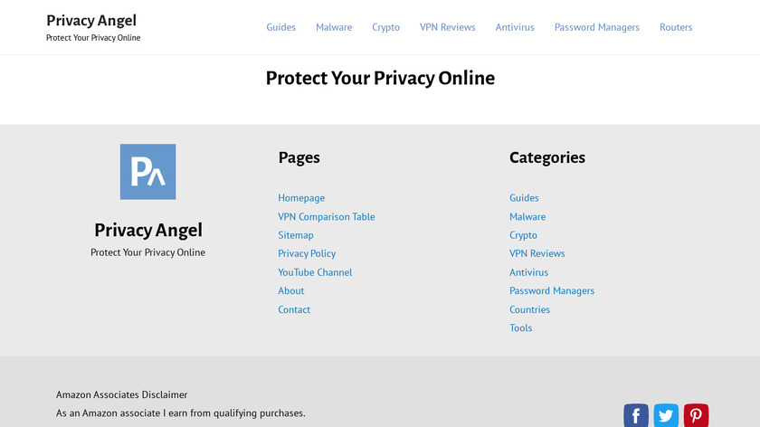 PrivacyAngel Landing Page