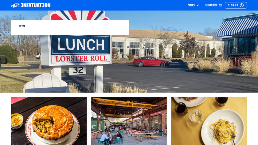 The Infatuation Landing Page