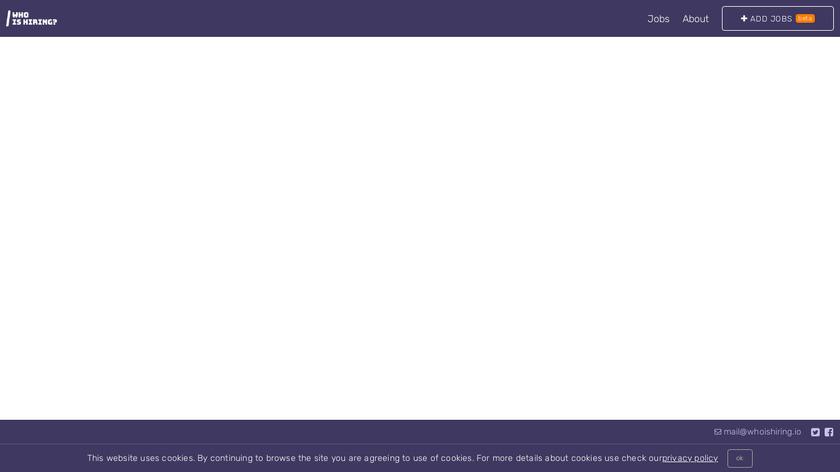 whoishiring.io Landing Page