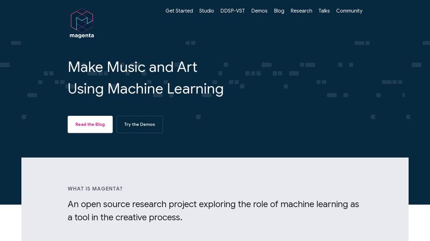 Magenta Studio Landing Page