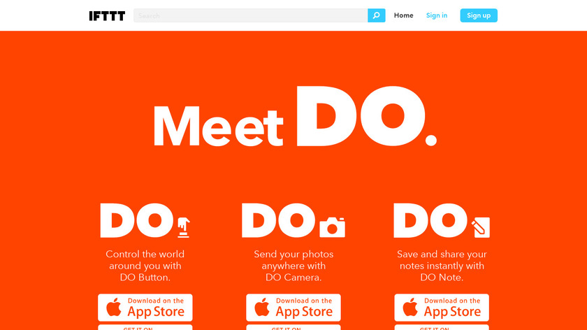 DO by IFTTT Landing Page