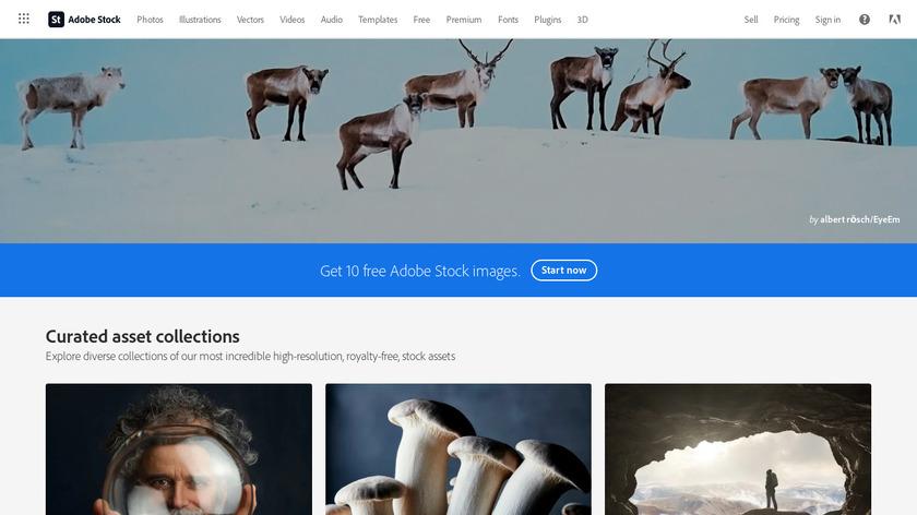 Adobe stock Landing Page