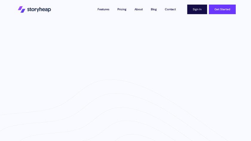 Storyheap Landing Page