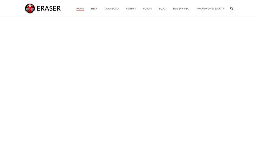 Eraser Landing Page