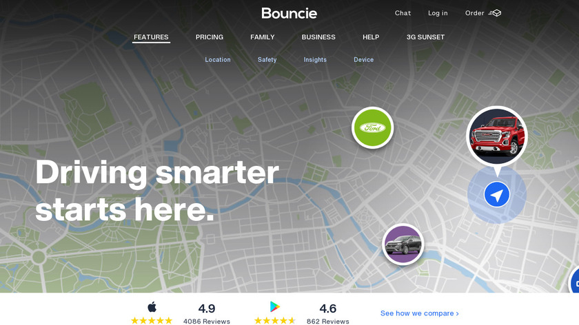 Bouncie Landing Page