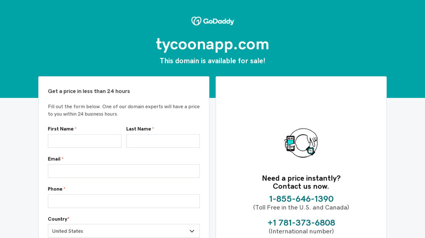 Tycoon Landing Page