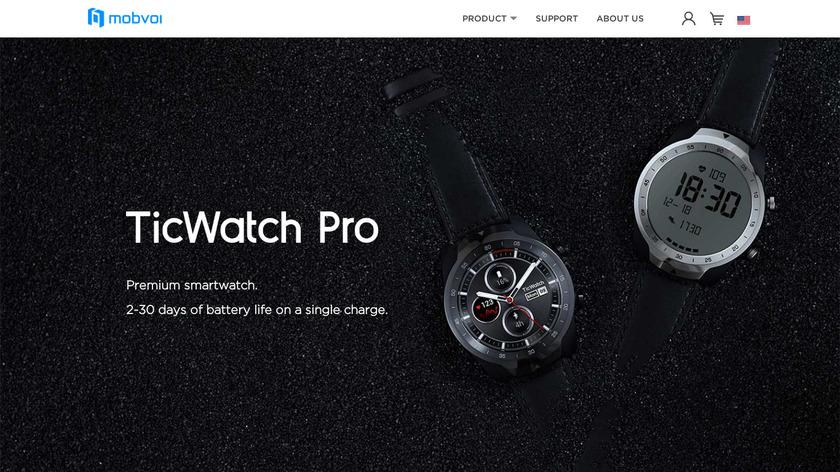 Tic Watch Pro Landing Page