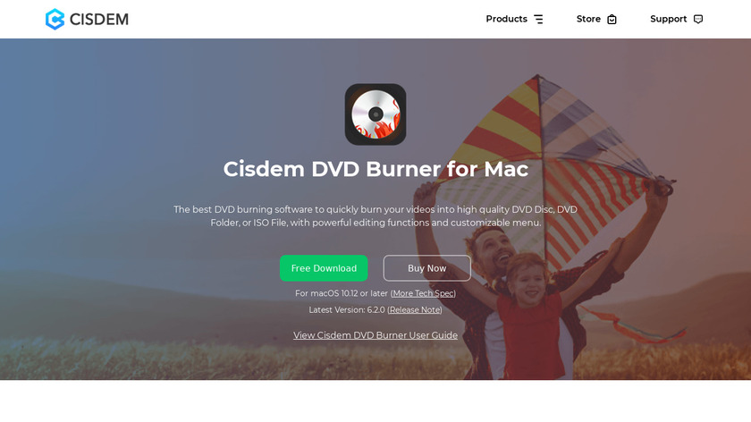 Cisdem DVD Burner Landing Page