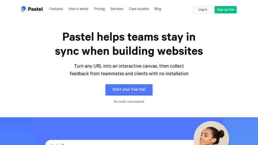 Pastel for Teams Landing Page