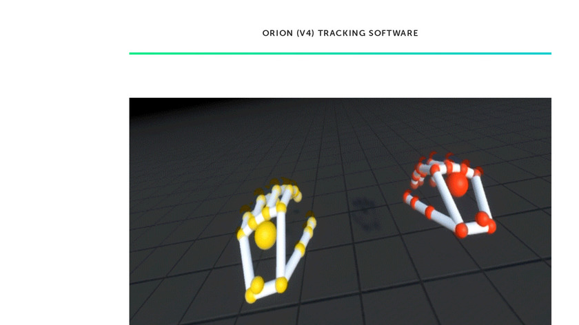 Leap Motion Orion Landing Page