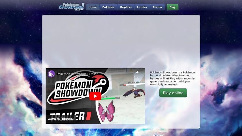 Pokemon Showdown Landing Page