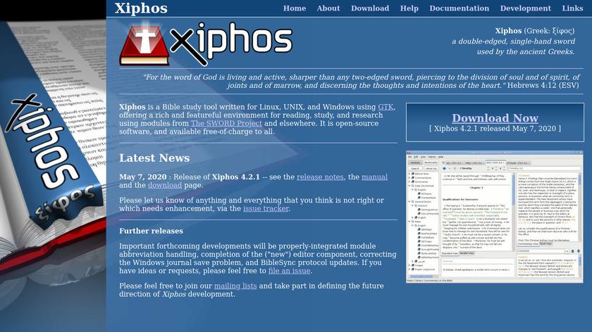 Xiphos Landing Page