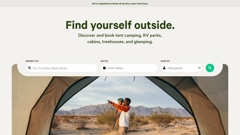 Hipcamp Landing Page