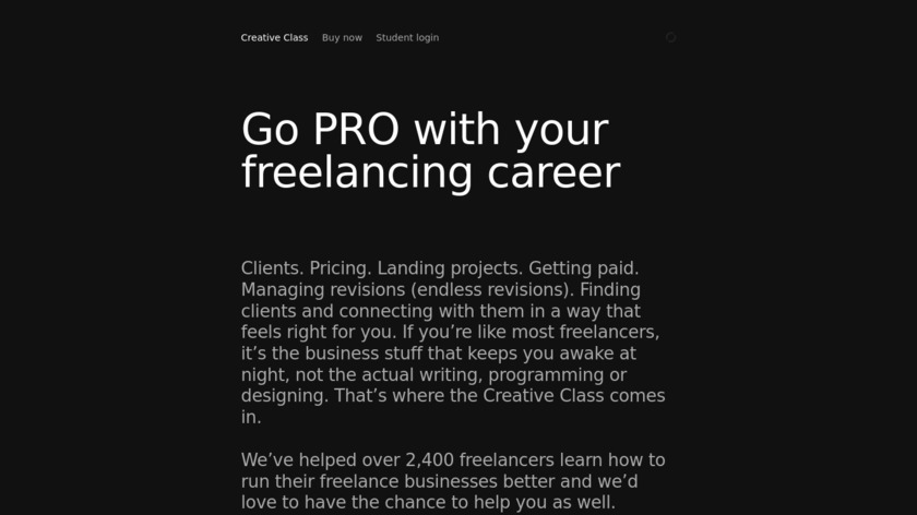 Creative Class Landing Page