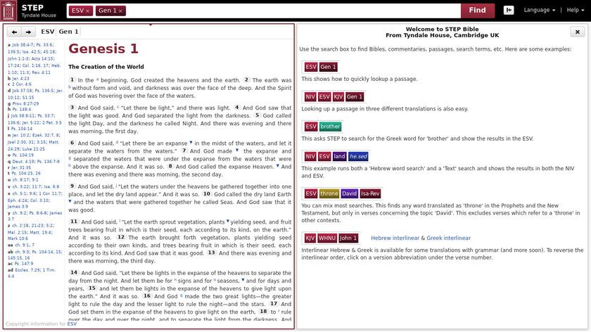 Step Bible Landing Page