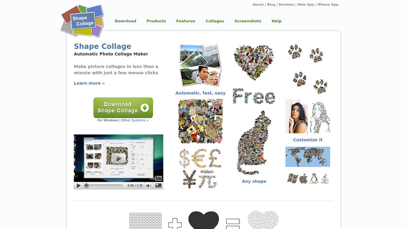 Shape Collage Landing Page