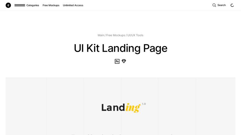 Landing UI Kit Landing Page