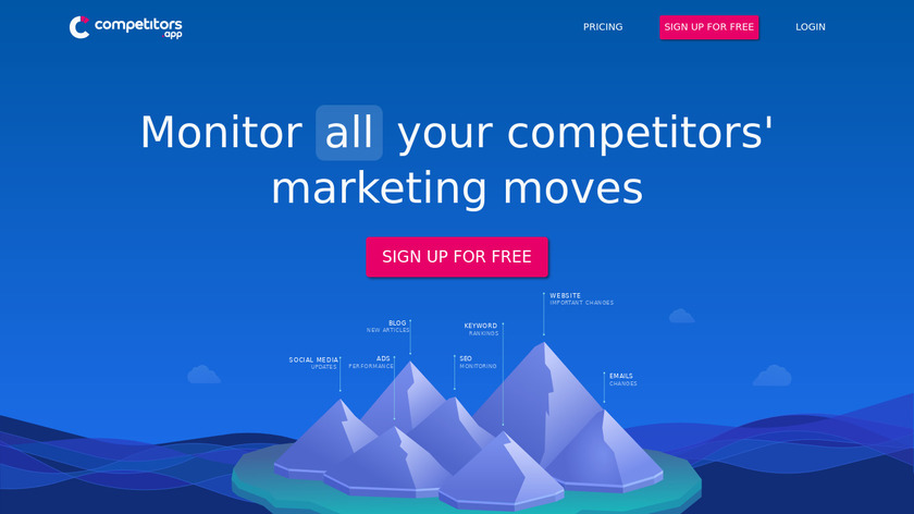 Competitors App Landing Page