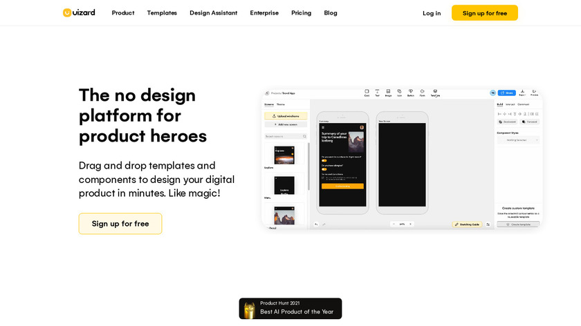Uizard Landing Page