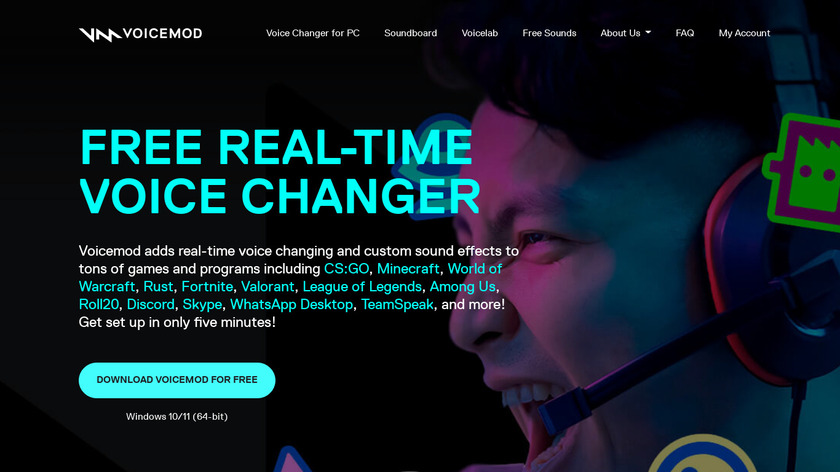 Voice Swap Landing Page