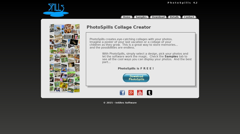 PhotoSpills Landing Page