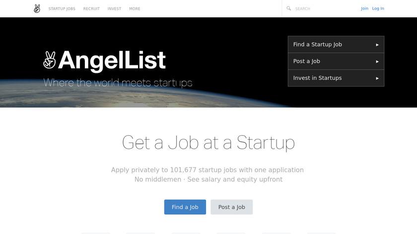 AngelList Landing Page