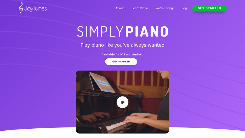 Simply Piano Landing Page