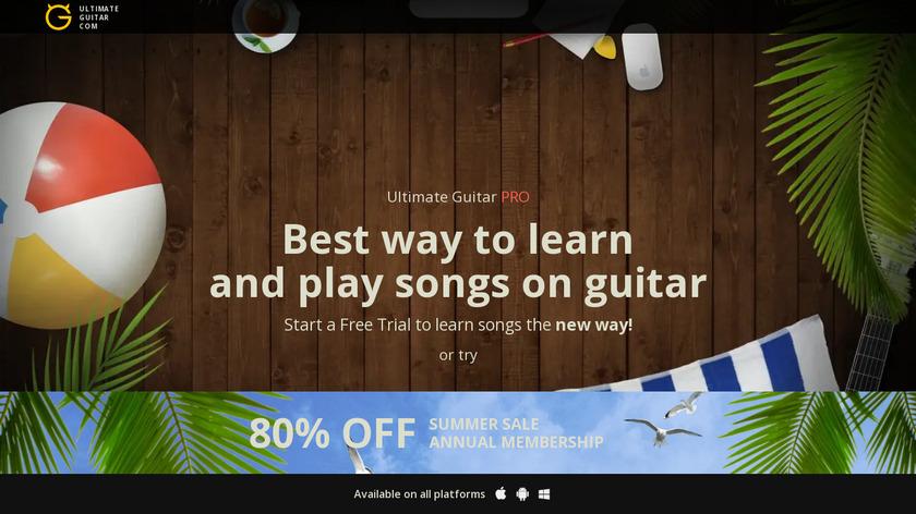 Ultimate Guitar Originals Landing Page
