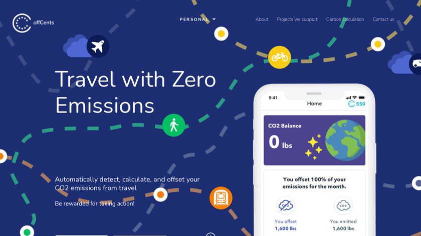 offCents Landing Page