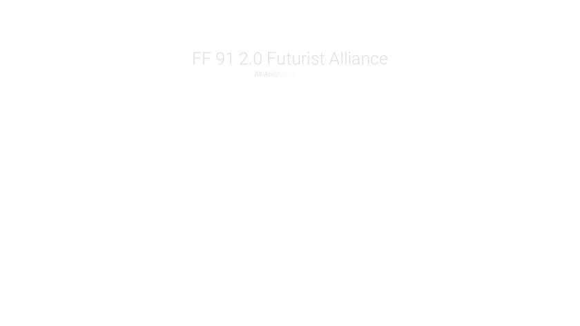 Faraday Future FF91 Landing Page