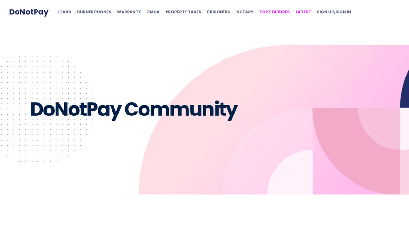 DoNotPay Travel Landing Page