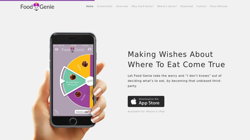 Food Genie Landing Page
