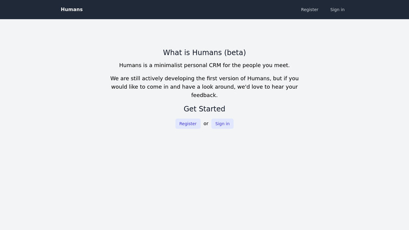 Humans.io Landing Page